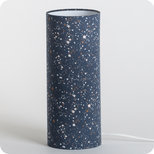 Cylinder fabric table lamp Terrazzo night