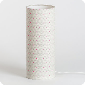 Cylinder fabric table lamp Mousseline M