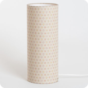 Cylinder fabric table lamp Mini Hoshi S
