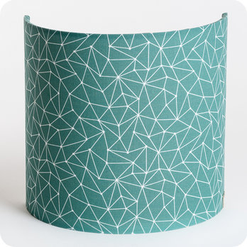 Fabric half lamp shade for wall light Cactus