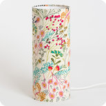 Cylinder fabric table lamp Symphonie