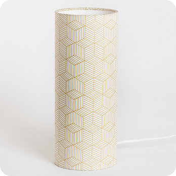 Cylinder fabric table lamp Cinetic miel M