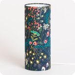 Cylinder fabric table lamp Symphonie navy