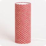 Cylinder fabric table lamp Nami terra