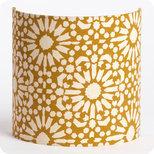 Fabric half lamp shade for wall light Sun yellow