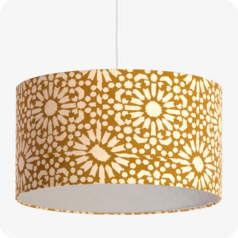 Drum fabric pendant shade Sun yellow Ø40