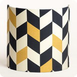 Fabric half lamp shade for wall light Modernist
