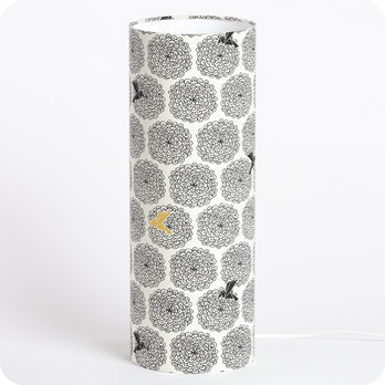 Cylinder fabric table lamp Colibri L