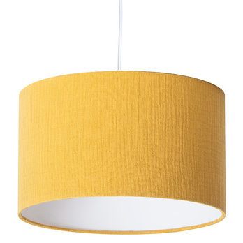 Cotton gauze pendant shade Moutarde Ø40