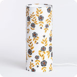 Cylinder fabric table lamp Billie blanc