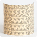 Fabric half lamp shade for wall light Suna