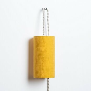 Cotton gauze Plug-in pendant lamp Moutarde