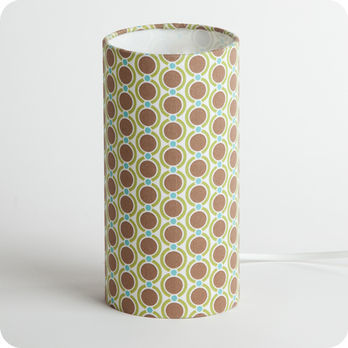 Cylinder fabric table lamp Summer 70 S