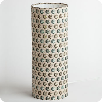 Cylinder fabric table lamp Hypnotic M