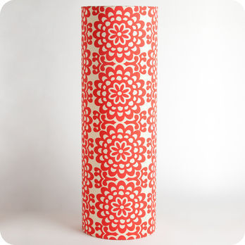 Cylinder fabric table lamp Flower power XXL