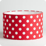 Drum fabric lamp shade / pendant shade Red dingue