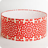 Drum fabric lamp shade / pendant shade Flower power