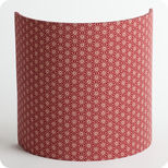 Fabric half lamp shade for wall light Ume