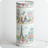 Cylinder fabric table lamp Happy Paris