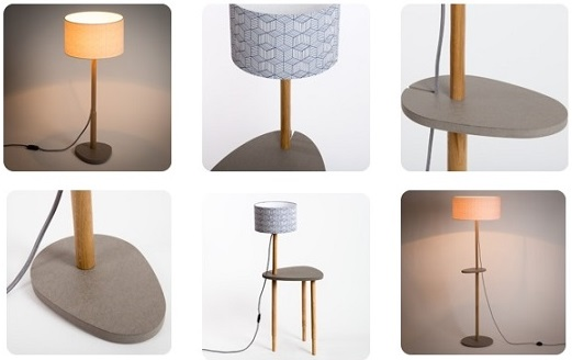 New natural wood based lamps range the three lamps combine solid oak from jura grey tinted medium and printed cotton fabric the bases are dressed with our cinetic range lamp shades mozeypictures Gallery
